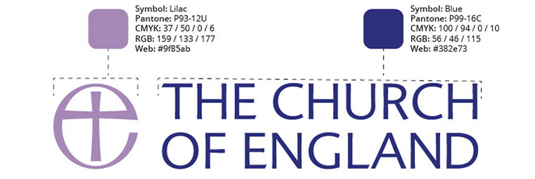 The Church of England logo colours