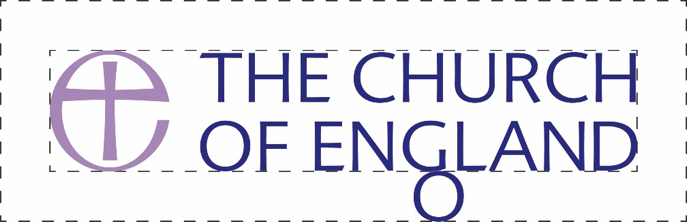 The Church of England logo clear space