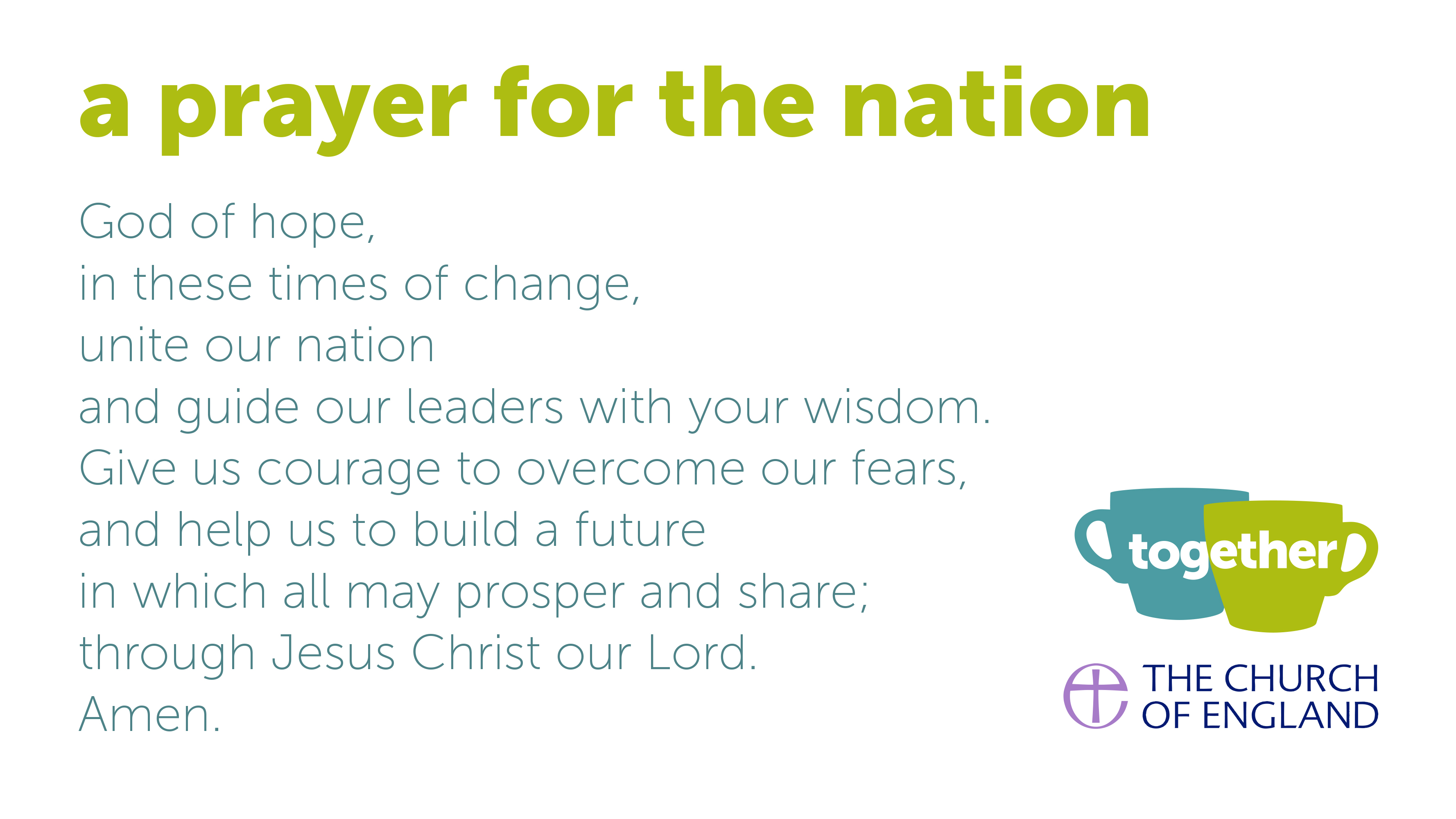 Resources for prayer and conversation for Brexit | The