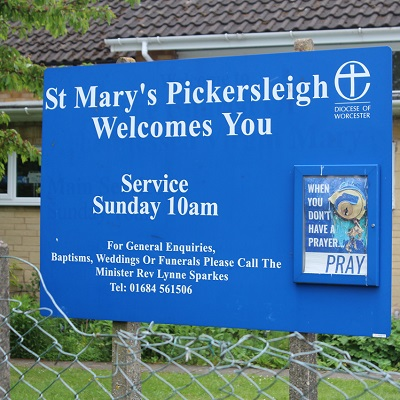 St Mary's, Pickersleigh, Church Sign