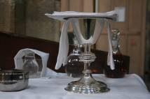 Communion chalice on altar