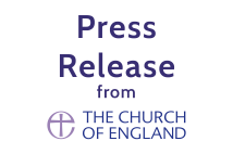 Church of England logo with press release text above it