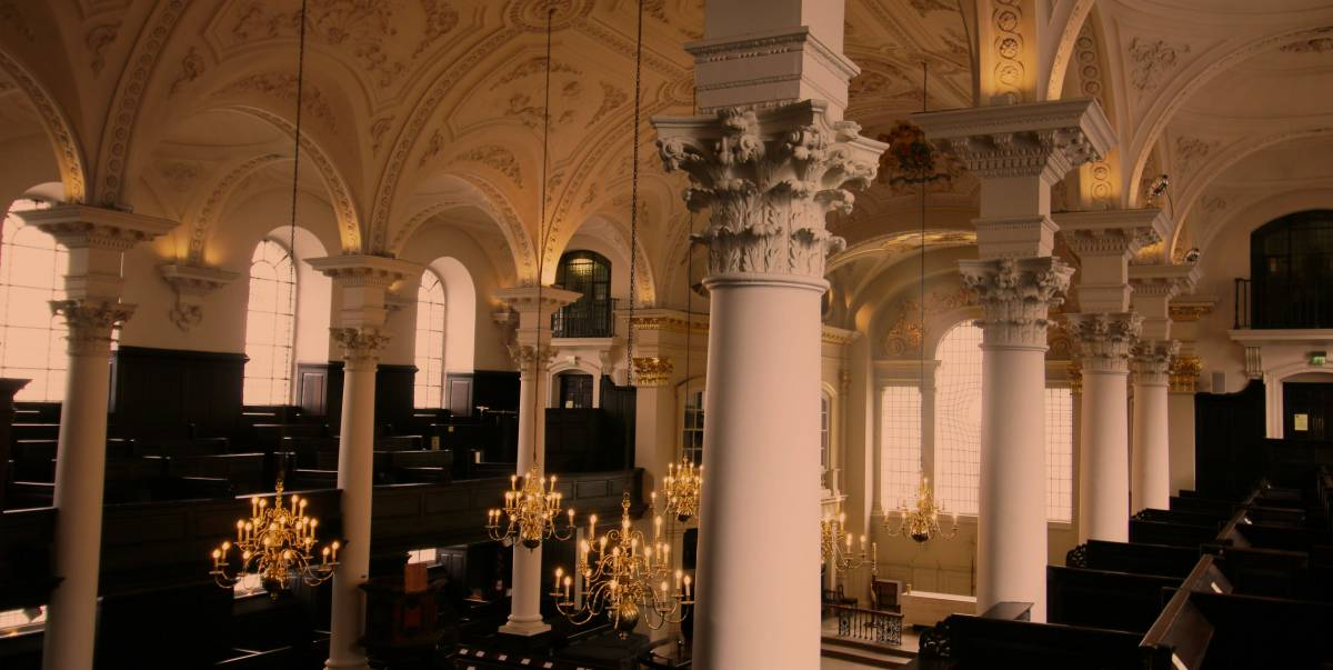 St Martin in the Fields church interior view