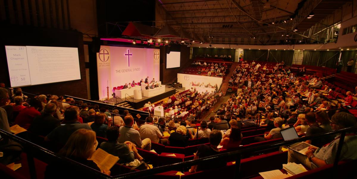General Synod meeting in Central Hall, York