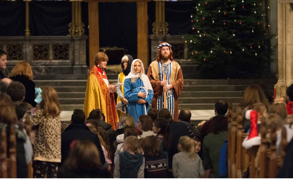 Christmas nativity service at Worcester Cathedral