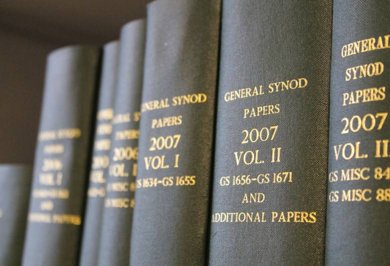 Shelf of bound books, General Synod papers 2007