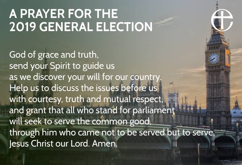 A prayer for the 2019 general election.