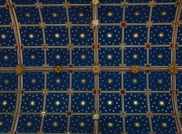 Square pattern on Carlisle Cathedral ceiling