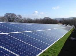 Image of the Church Commissioners' solar farm near Carlisle.