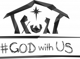 #GodWithUs logo black and white PNG