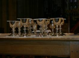 Communion set on table