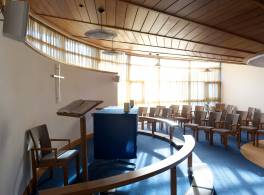 Interior view of Pensions Board residential home chapel