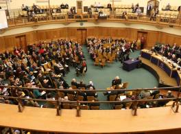 View of the Assembly hall during General Synod from the balcony