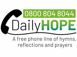 The Daily Hope telephone logo.