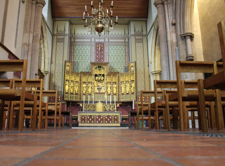 Interior view of St Matthews church, Westminster