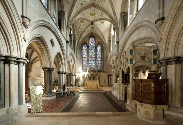 Interior of Priory church, Boxgrove